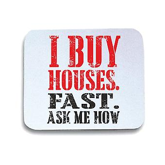 Tappetino mouse pad bianco gen0652 i buy houses