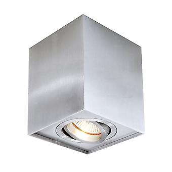 Ceiling lamp Dato GU10 max. 50W 96x96mm silver swivel and dimmable