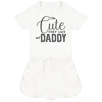 I'm Cute Just Like My Daddy Baby Playsuit
