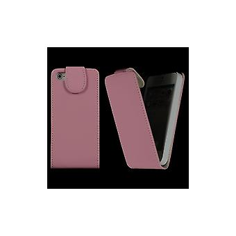 Rose Clear Cover Vertical Opening Magnetized For IPhone 5