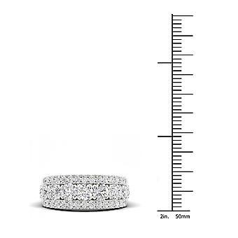 Decodificatore certificato Igi 2ct tdw diamante 14k bianco oro wedding band (h-i, i2)