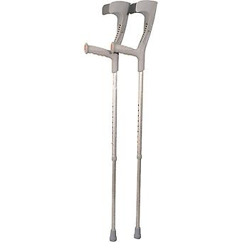 Aidapt loopkrukken onderarmkruk - 1 stuk, grijs