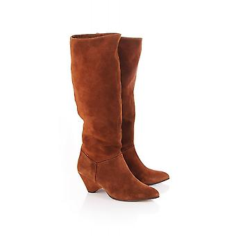 Anonymous Copenhagen Jasmina Slouch Suede Calf Length Boot