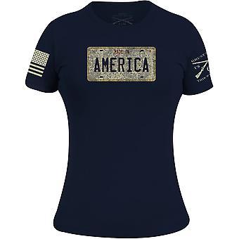 Grunt Style Women's Cruisin' USA T-Shirt - Navy