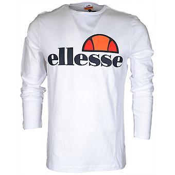 Ellesse Grazie pitkähihainen optinen valkoinen puuvilla t-paita