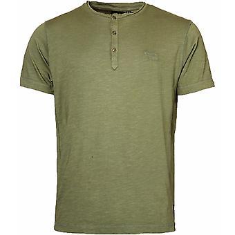 REPLIKA Replika Plain Fashion Grandad T Shirt