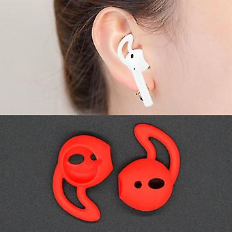 For Apple Airpods Red Silicone Ear Caps with Precise Opening