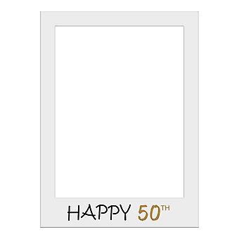 Large Size Birthday Selfie Photo Frame Party Props-Happy 50th Birthday