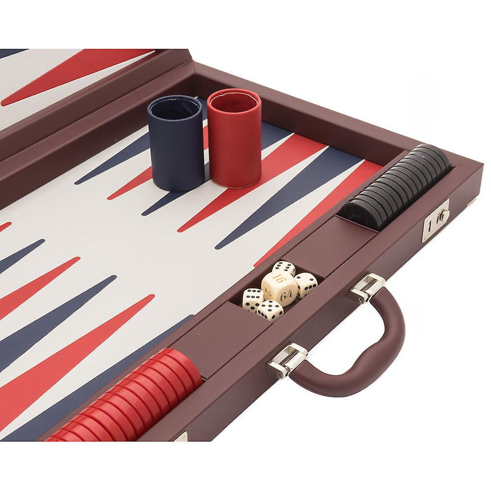 The Dal Negro Luxury Bordeaux Backgammon Set