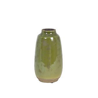 Light & Living Vase Deco 15x26.5cm Batur Ceramics Green