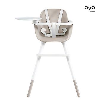 Micuna - ovo ice plus high chair - white harness