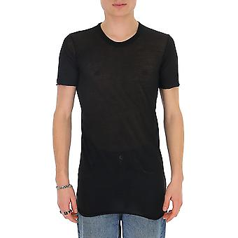 Rick Owens Ru20s7251uc09 Men's Black Cotton T-shirt