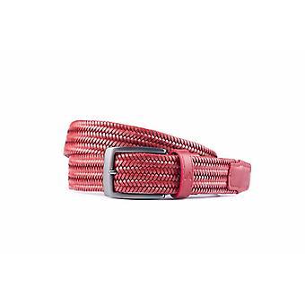 Cintura elastica rossa di pelle di alta qualità