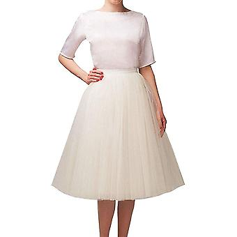 Wedding Planning Women's A Line Short Knee Length Tutu, Ivory, Size X-Large
