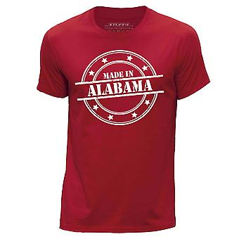 STUFF4 Hombres's Round Neck Camiseta/Made In Alabama/Red