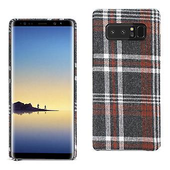 Reiko Samsung Galaxy Note 8 Checked Fabric Case In Brown