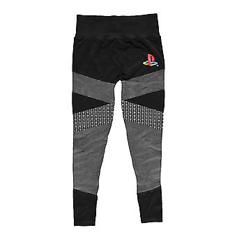 Playstation Womens Leggings Tech Classic Logo Seamless new Official Black