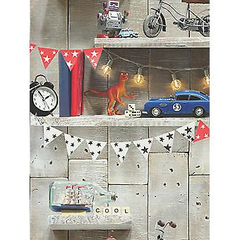 Boys Life Bookshelf Wallpaper Multi Arthouse 696000