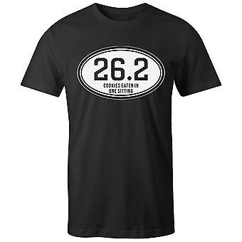 Boys Crew Neck Tee Short Sleeve Men-apos;s T Shirt- 26.2 - Cookies Eaten In One Sitting