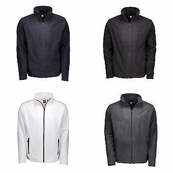 ID Mens Microfleece Full Zip Cardigan