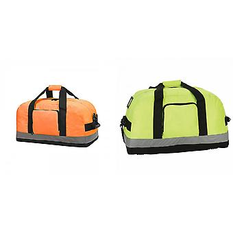 Shugon Seattle Workwear Hi-Vis Holdall / Duffle Bag - 50 Litres (Pack of 2)