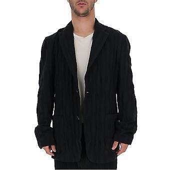 Issey Miyake Me98jd02815 Männer's Schwarz Baumwolle Blazer