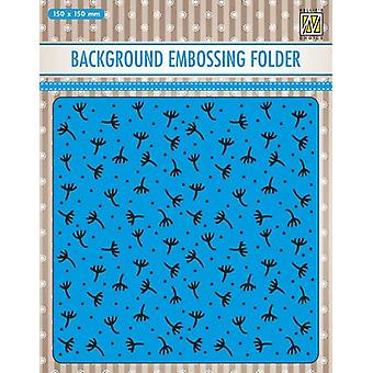 Nellie's Choice Embossing Folder Background Fluff EEB029 150x150mm (11-19)