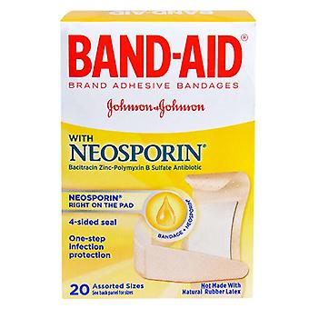 Band-aid plus antibiotic adhesive bandages, assorted sizes, 20 ea