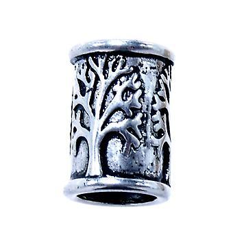 Beard bead tree 7mm - stainless steel