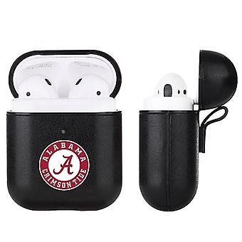 Alabama Crimson Tide NCAA Fan Brander Zwart Lederen AirPod Case