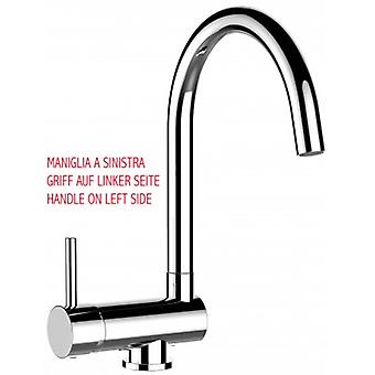 Single-lever Kitchen Sink Mixer With Folding Spout Only 6 Cm - Handle On Left Side - 358