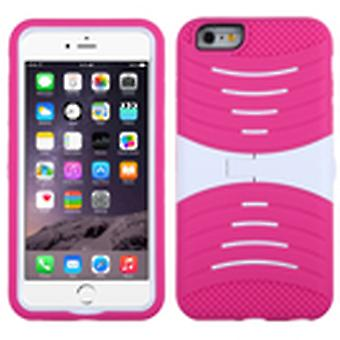 Custodia ASMYNA Symbiosis con Stand per iPhone 6s/6 Plus - White/Hot Pink Wave
