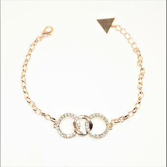 VIP Rose Plated Triple Circles Bracelet