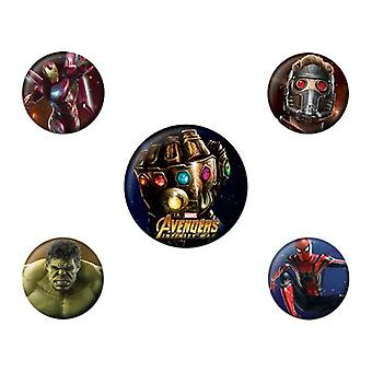 Avengers Infinity War, 5x Pins