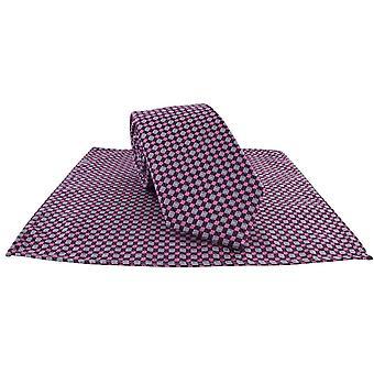 Michelsons di Londra Piazza griglia cravatta e fazzoletto da taschino Set - viola
