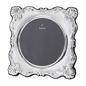 Orton West Large Round Photo Frame - Silver