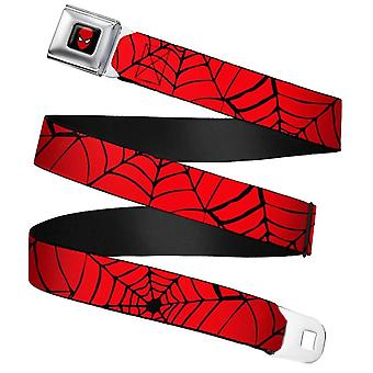 Marvel Comics Spider-Man Spiderweb Seatbelt Buckle Belt