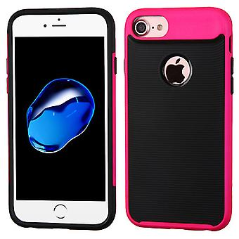 Asmyna Astronoot Protector Case for iPhone 8/7 - Electric Pink Frame/Black
