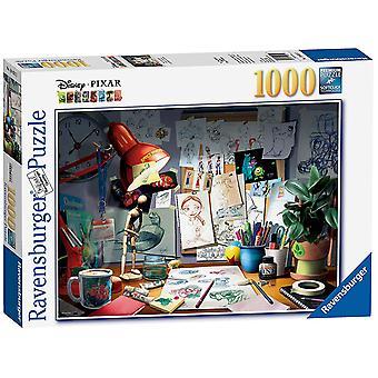 Ravensburger Disney Pixar, The Artist's Desk, 1000pc Puzzle