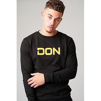 Don applique zwart sweatshirt