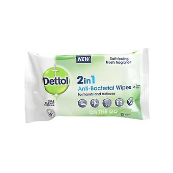 Dettol 2 in 1 Anti-Bacterial Hand and Surface Wipes