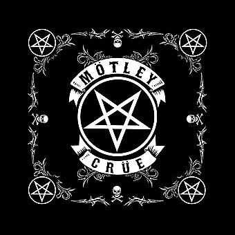 Motley Crue Bandana Pentagram Band Logo new Official Black (21in x 21in)