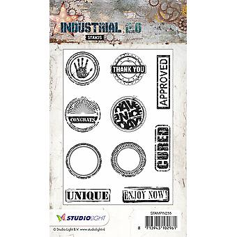 Studio Light A6 Clear Stamp - Industrial 2.0 - Number 255