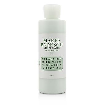 Cleansing milk with carnation & rice oil for dry/ sensitive skin types 204566 177ml/6oz