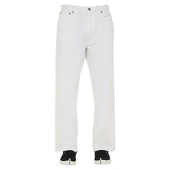 Maison Margiela S30la0163s30642101 Men's White Cotton Jeans