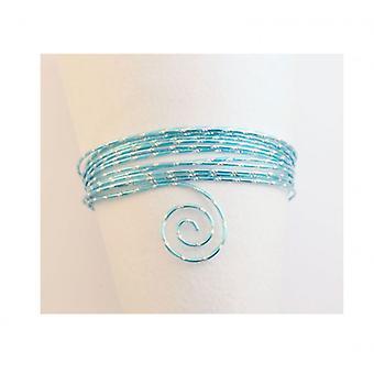 Vaessen Creative - Aluminium wire diamond cut 2mm 5m Ice blue