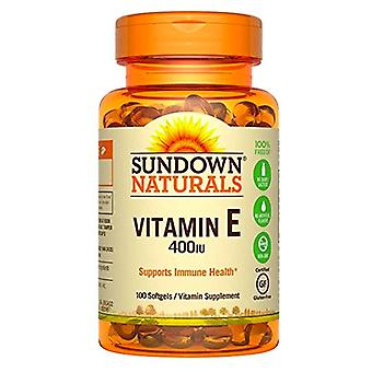 Sundown naturals vitamin e, 400 iu, softgels, 100 ea *