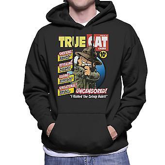 Garfield echte kat Detective Comic Book parodie mannen ' s Hooded Sweatshirt