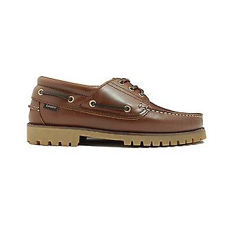 Loake 522CH Brown Waxy Leather Mens Deck Shoes
