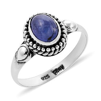 Royal Bali Håndlavet Tanzanite Solitaire Ring Sterling Sølv, 1,63 Ct
